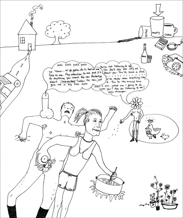 Artist Jill Smith's take on multitasking in all its glory and ugliness.