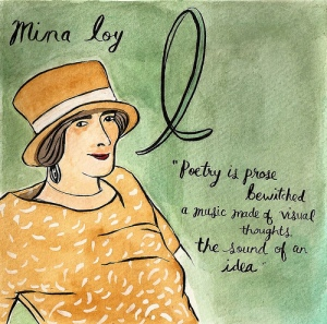 """Mina Loy"" by Carrie O'Neill as part of her ABCs of Feminism series"
