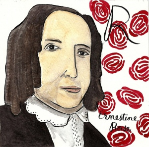 """Ernestine Rose"" by Carrie O'Neill, part of her ABC's of Feminism series"
