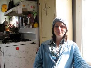 Megan in her kitchen