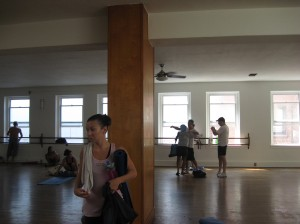Bryan Kest's yoga studio after class - imagine 100 people in here... It's powerful.