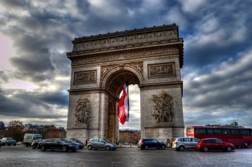 paris-arc-de-triomphe-hdr