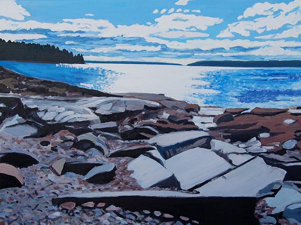 """Bracy's Cove"" by Lindsay Hopkins-Weld, http://www.lindsayhopkins-weld.com"